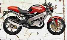 Cagiva 125Planet 2001 Aged Vintage SIGN A4 Retro