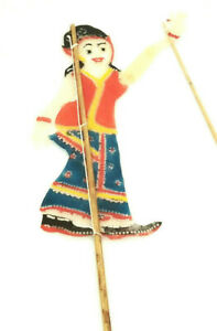 Leather Shadow Puppet Thai Wayang Kulit Folk Theater Figurine Hand Carved Toy