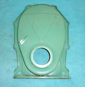 MOPAR 1960s-1970s ERA BIG BLOCK TIMING CHAIN COVER, V-CLN GD PNT NO RUST OR PITS