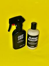 Lush cosmetics Almond Blossom SLS FREE shower gel & Coco Loco rare body spray