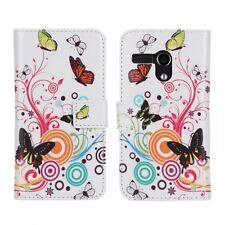 For Motorola Moto G LTE Butterfly Flower Design Leather Wallet Case Cover