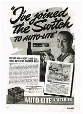 1940 AD AUTO-LITE BATTERIES, CAR AUTOMOBILE CASH REGISTER, FREEZ-D-TECTOR  TESTS