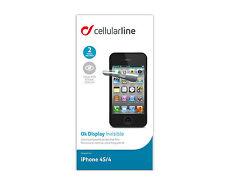 BRANDNEUE CELLULARLINE DISPLAYSCHUTZFOLIEN IPHONE 4S/4