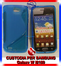 Pellicola+Custodia cover case WAVE BLU per Samsung Omnia W I8150