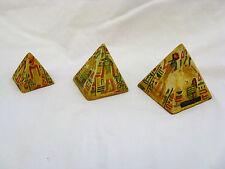 Egyptian Resin Pyramid Set Horus Osiris Tan Pharoah Designs #1408