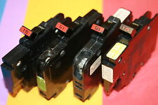 4 Federal Pacific 15 Amp Nc Breaker Thin Stab Lock