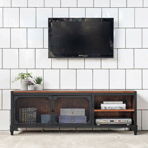 TV  Kommode STATEN ISLAND Sideboard Fernsehschrank Metall Holz Industrial