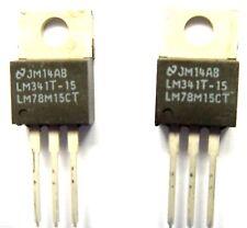 Lm78m15ct / lm341t-15 regulador nacional pos 15v 0,7 un To-220 X2pcs