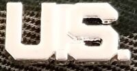 WW2 US ARMY OFFICER U.S. COLLAR BADGE INSIGNIA SILVER SET