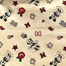 Beige Micky Mouse 100% cotton sewing fabric fat quarter sewing supplies