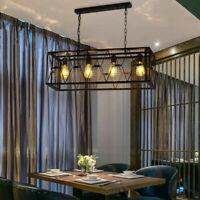 4 Lights Industrial Kitchen Island Light Pendant Lamp Chandelier Ceiling Fixture