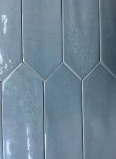 3x12 Modena Collection Blue Glazed Ceramic Tile Backsplash Decor Wall Bath