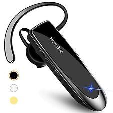 Bluetooth Earpiece V5.0 Wireless Handsfree Headset 24 Hrs Driving Headset Black