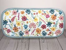 Pioneer Woman Serving Tray Melamine Sunny Days Spring 2020 Kitchen tray TEAL