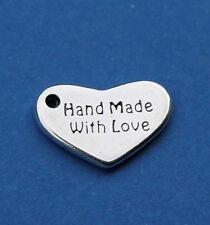 """Herz Schmuck Logo Anhänger """" Hand Made With Love""""  Schmuckzubehör"""