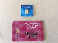 Nadir 0.1 GRAM 24K GOLD and Niziplioglu (NZP) 0.1 Gram 24K GOLD, LOWEST ON EBAY!