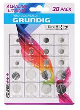 20 Stück Grundig Batterien Knopfzellen Alkaline/Lithium  NEU