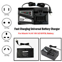 Replacement Battery Fast Charger For Universal Hitachi 14.4/18V UC18YFSL Parts