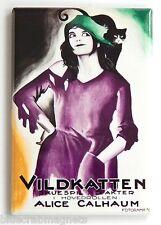 Little Wildcat (Sweden) FRIDGE MAGNET (2.5 x 3.5 inches) movie poster black cat
