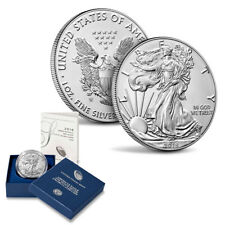 2018 W BURNISHED AMERICAN SILVER EAGLE ONE OUNCE  UNCIRCULATED COIN