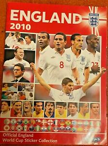 2010 Topps England World Cup Sticker Album - Incomplete