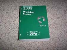 2004 Ford Focus Shop Service Repair Manual ZX3 LX SE ZX5 ZTS Wagon 2.0L 2.3L