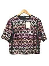 Designer Dries Van Noten Size 36 8 AU Silk & Sequin Women's Top