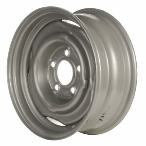 00937 Refinished 15in Silver Steel Wheel Fits 1971-1986 Chevrolet C10 Pickup