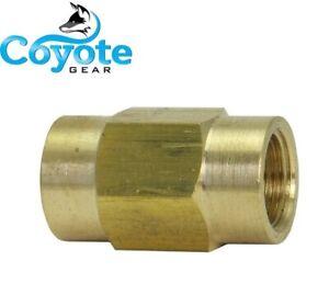 M12-1.0 Metric Female Bubble Flare ISO Brass Brake Line Union Coupler 6mm Tube
