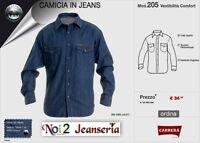 CAMICIA JEANS CARRERA STONE WASH CON CLIPS MISURA  L XL