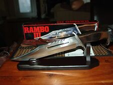 RAMBO III UC201 KNIFE, LEATHER SHEATH, ORIGINAL BOX, AND C.O.A.