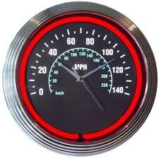 Speedometer Car Garage Neon Clock 15x15 8spdom