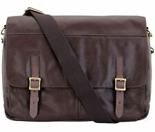 Fossil MBG9037201 Men's Dark Brown Leather Messenger Bag RRP $449
