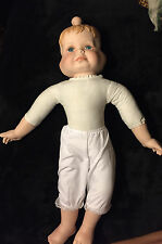 """Vintage Tuss Porcelain/Bisque 3 Faced knob head Girl Doll 20"""" Tall"""