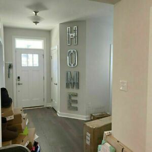 HOME Sign Silver Crushed Crystal Diamond Mirror Letters Wall Hung ,Bling Gift