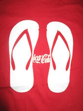 Vintage COCA-COLA Flip-Flops (MED) T-Shirt COKE COCA-COLA Open Happiness