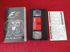 Formula 1 1998 Championship Season Review VHS Video tape 1998. Formula One