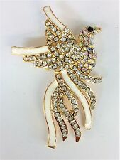 Clear Crystal Phoenix Brooch