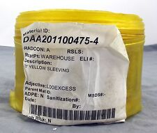 """3"""" Yellow Industrial Commercial Electrical Wire Vinyl Tube Sleeving"""