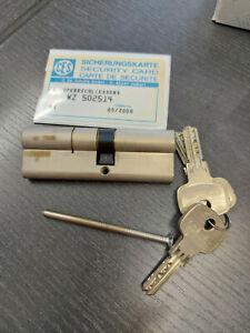 CES Profilzylinder WZ  8710 N+G  40,5/50,5 Sperrschließung mit Sicherungskarte