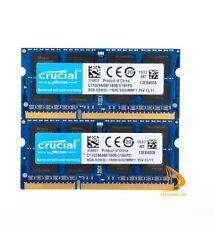 Crucial 16GB 2x 8GB 2Rx8 PC3L-12800S DDR3-1600Mhz SODIMM Laptop Memory RAM @DD