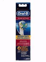 BRAUN Oral B Floss Action / Tiefen-Reinigung Aufsteckbürsten - NEU - 4 Stück