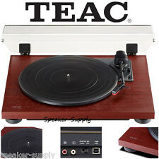 Teac TN-100 Turntable Vinyl Record Player w/ Preamp & USB Digital Output Cherry