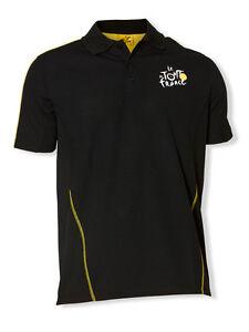 Tour de France TDF Logo Sports Polo Official Apparel (Black)
