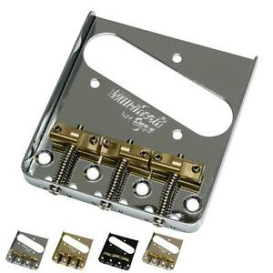 """Wilkinson WTB Telecaster """"Ash-Tray"""" Bridge with Compensated Brass Saddles"""