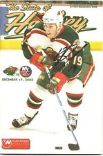 Stephane Veilleux Minnesota Wild Signed Autographed State of Hockey Program