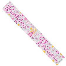 Birthday Princess Pink Banner 1st,2nd,3rd,4th,5th,6th,7th,8th,9th,10TH (BA1003)