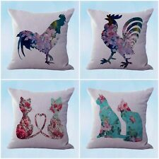 US Seller- 4pcs cushion covers shabby chic cat pet pillows and throws for couche