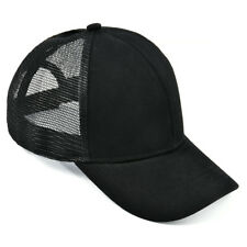 Ponytail Baseball Cap Women Messy Bun Baseball Hat Snapback Sun Sport Caps newly