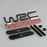 NEW WRC Front Grill Badge Red Rally Emblem Logo Car Grille Metal Evo Impreza